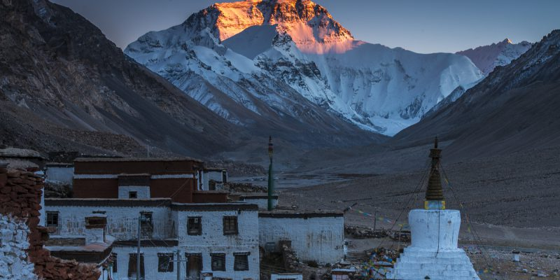 Everest view from Ronpuk monastery